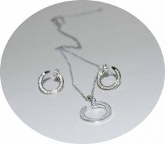 Набор Cartier Гвоздь кулон и серьги серебро 925