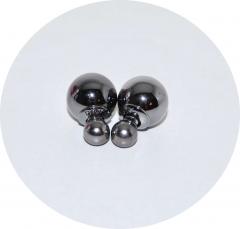 Серьги Диор шарики зеркальные черные