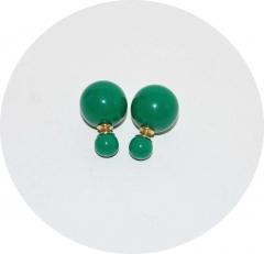 Серьги Диор шарики зеленые