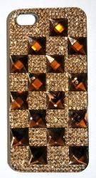 Чехол со стразами для iPhone 5S бронза