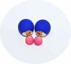 Серьги Dior синие с розовым матовые