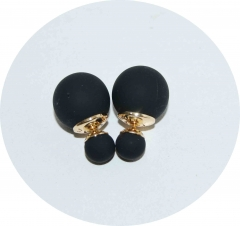 Серьги Dior черные матовые