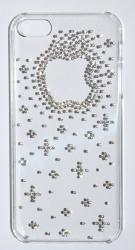 Чехол Яблоко для iPhone 4 стразы