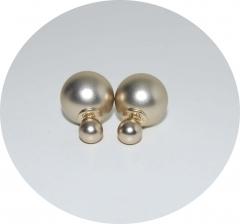 Серьги Mise En Dior матовые золотые