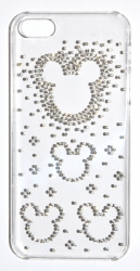 Чехол Микки для iPhone 4S стразы
