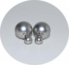Серьги Mise En Dior матовые серебряные
