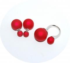 Комплект в стиле Dior красный