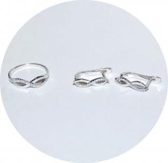 Комплект серебряный Бесконечность