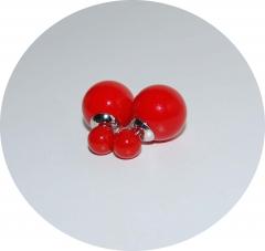 Серьги Mise En Dior красные 925
