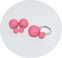 Комплект в стиле Dior розовый