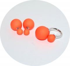 Комплект в стиле Dior оранжевый