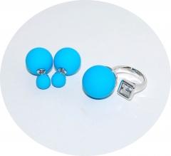 Комплект в стиле Dior голубой