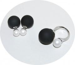Комплект в стиле Dior черный и белый