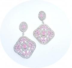 Серьги Boucheron розовые