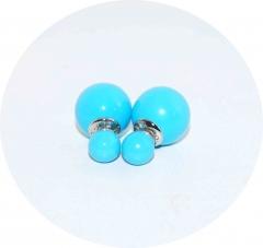 Серьги Mise En Dior голубые