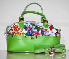 Сумка Richezza с цветами зеленая
