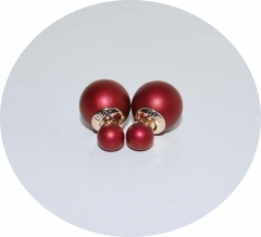 Серьги Диор шарики бордовые