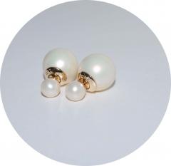 Серьги шарики перламутровые матовые