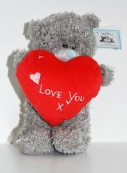 Мишка Тедди Love красный 15 см