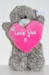 Мишка Тедди Love розовый 15 см