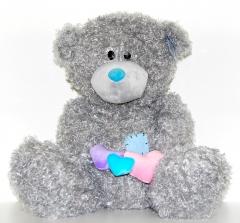 Мишка Тедди с сердечками 38 см