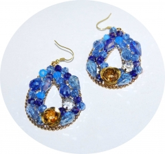 Серьги в стиле D&G голубые