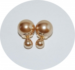 Пусеты шарики Dior жемчужные золотые