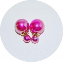 Пусеты шарики Dior розовые