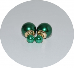 Пусеты шарики Dior жемчужные зеленые