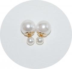 Пусеты шарики Dior жемчужные