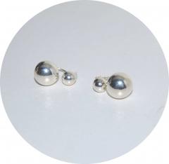 Серьги шарики в стиле Шанель из серебра