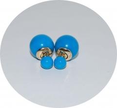 Пусеты шарики Dior голубые