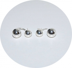 Серьги в стиле Шанель из серебра