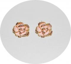 Серьги розовые Розочки
