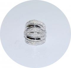 Кольцо в стиле De Grisogono серебряное