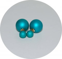 Пусеты шарики Dior бирюзовые