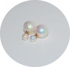 Пусеты шарики Dior белые