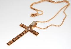 Колье Крест золотой