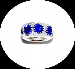 Шарм с камнями синий