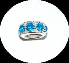 Шарм с камнями голубой