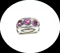 Шарм с камнями розовый