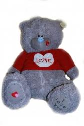 Мишка Тедди в красном свитере большой 70 см