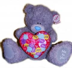 Мишка Me To You с сердечком 43 см