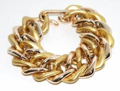 Браслет цепь матовое золото