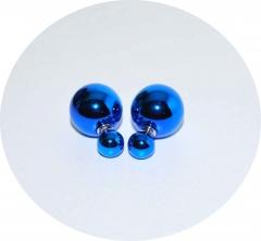 Серьги Dior зеркальные синие