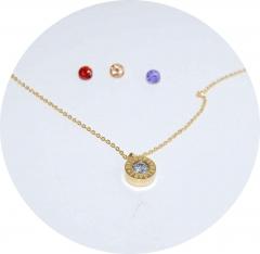 Кулон Булгари со сменными камнями золотой