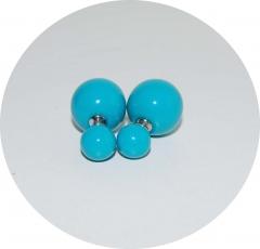 Серьги Диор шарики голубые