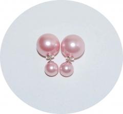 Серьги Dior жемчужные розовые