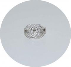 Серебряное кольцо в стиле Chanel