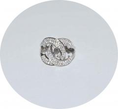Серебряное кольцо в стиле Шанель